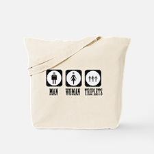Man Woman Triplets Tote Bag