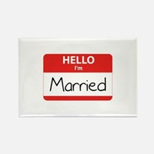 Hello I'm Married Rectangle Magnet