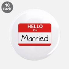 "Hello I'm Married 3.5"" Button (10 pack)"