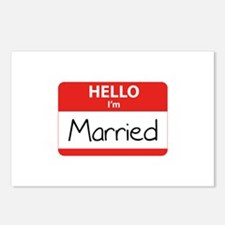 Hello I'm Married Postcards (Package of 8)