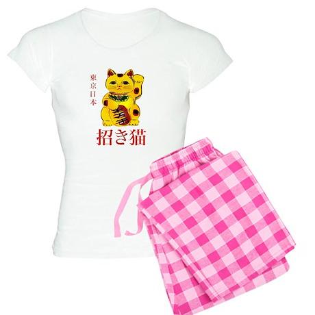 Gold Maneki Neko Women's Light Pajamas