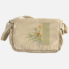 Dragonfly in Rice Field Messenger Bag