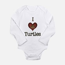 I Love Turtles Long Sleeve Infant Bodysuit