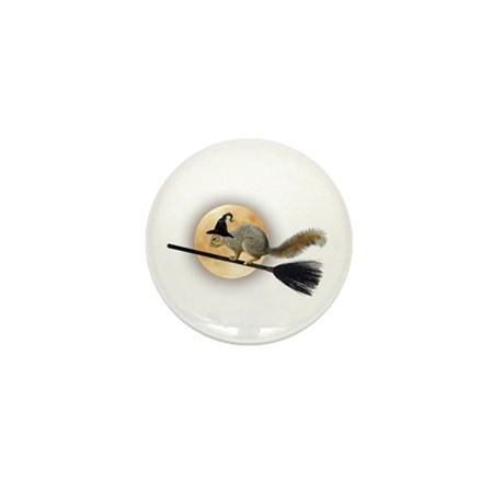 Witch Squirrel Mini Button (10 pack)