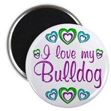 "Love My Bulldog 2.25"" Magnet (100 pack)"