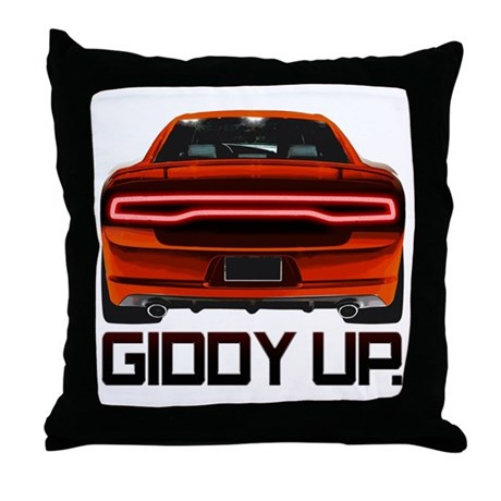 Charger - Giddy Up Throw Pillow