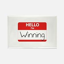 Hello I'm Winning Rectangle Magnet