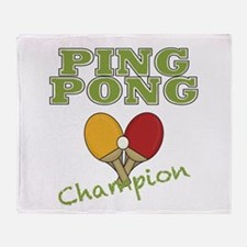 Ping Pong Champ Throw Blanket