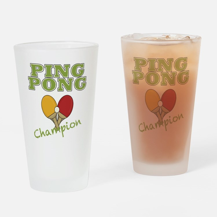 Ping Pong Champ Drinking Glass