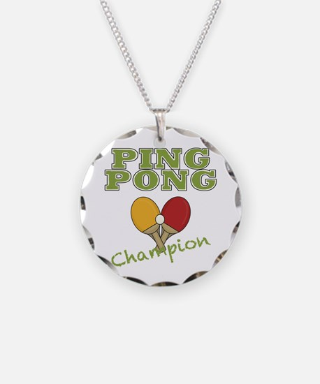 Ping Pong Champ Necklace Circle Charm