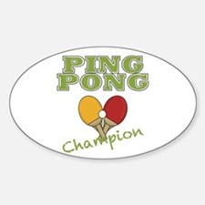Ping Pong Champ Decal
