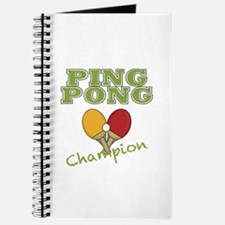 Ping Pong Champ Journal