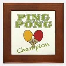 Ping Pong Champ Framed Tile