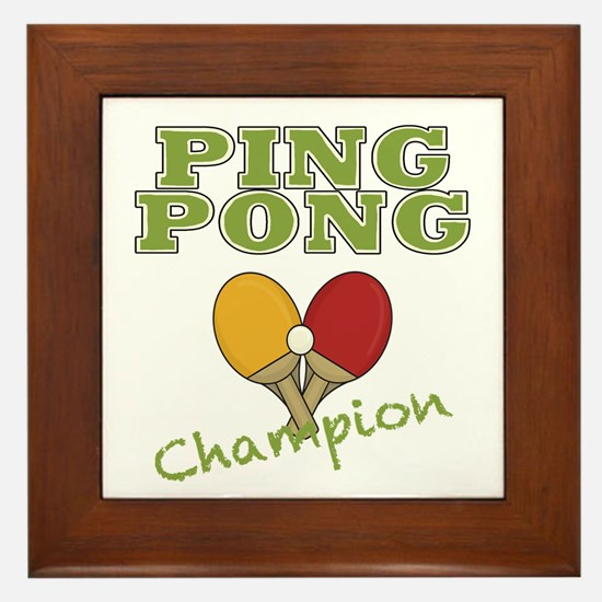 Ping Pong Champ Framed Tile