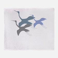 Whooping Crane Throw Blanket