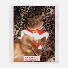 FPG Xmas Cat X - Throw Blanket