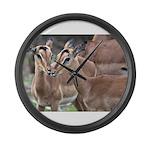 Impala Love Large Wall Clock