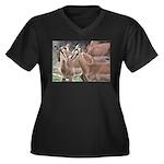 Impala Love Women's Plus Size V-Neck Dark T-Shirt