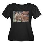 Impala Love Women's Plus Size Scoop Neck Dark T-Sh