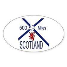 Scotland Football 500 miles Decal