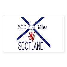 Scotland Football 500 miles Decal
