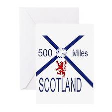 Scotland Football 500 miles Greeting Cards (Pk of
