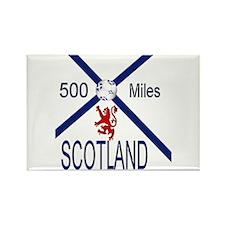 Scotland Football 500 miles Rectangle Magnet
