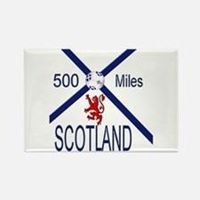 Scotland Football 500 miles Rectangle Magnet