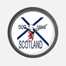 Scotland Football 500 miles Wall Clock