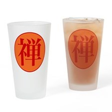 Zen Buddhist Drinking Glass