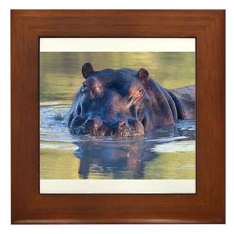 Hippo Framed Tile