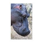 Hippo Profile Sticker (Rectangle)