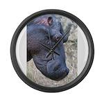 Hippo Profile Large Wall Clock