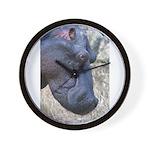 Hippo Profile Wall Clock