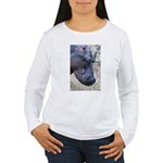 Hippo Profile Women's Long Sleeve T-Shirt