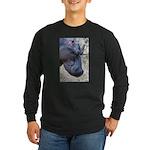 Hippo Profile Long Sleeve Dark T-Shirt
