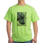 Hippo Profile Green T-Shirt
