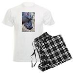 Hippo Profile Men's Light Pajamas