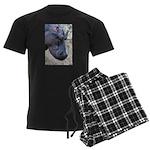 Hippo Profile Men's Dark Pajamas