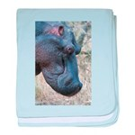 Hippo Profile baby blanket