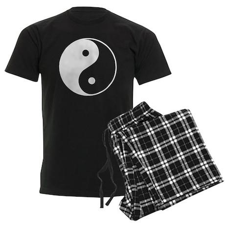 Yin Yang Symbol Men's Dark Pajamas