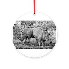 Rhinos Ornament (Round)