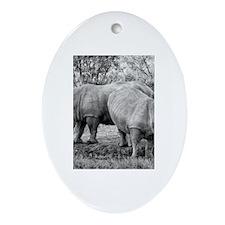 Rhinos Ornament (Oval)