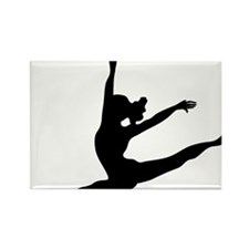 Cool Pole dancing Rectangle Magnet