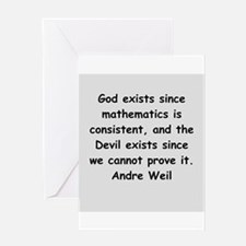 Andre Weil quotes Greeting Card
