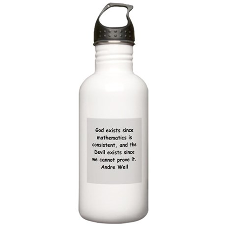 Andre Weil quotes Stainless Water Bottle 1.0L