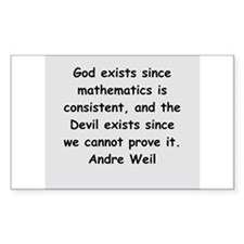 Andre Weil quotes Decal