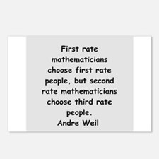 Andre Weil quotes Postcards (Package of 8)