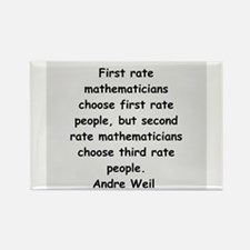 Andre Weil quotes Rectangle Magnet