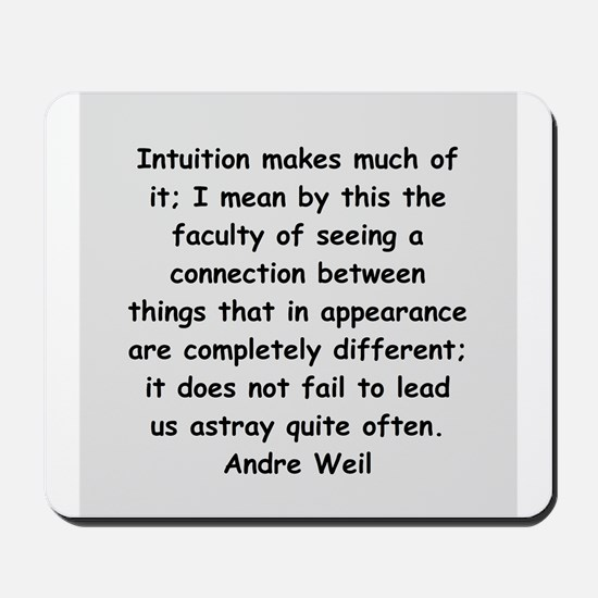 Andre Weil quotes Mousepad